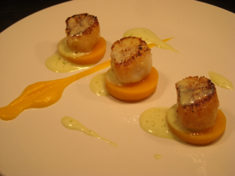 Scallops Butternut And Pea