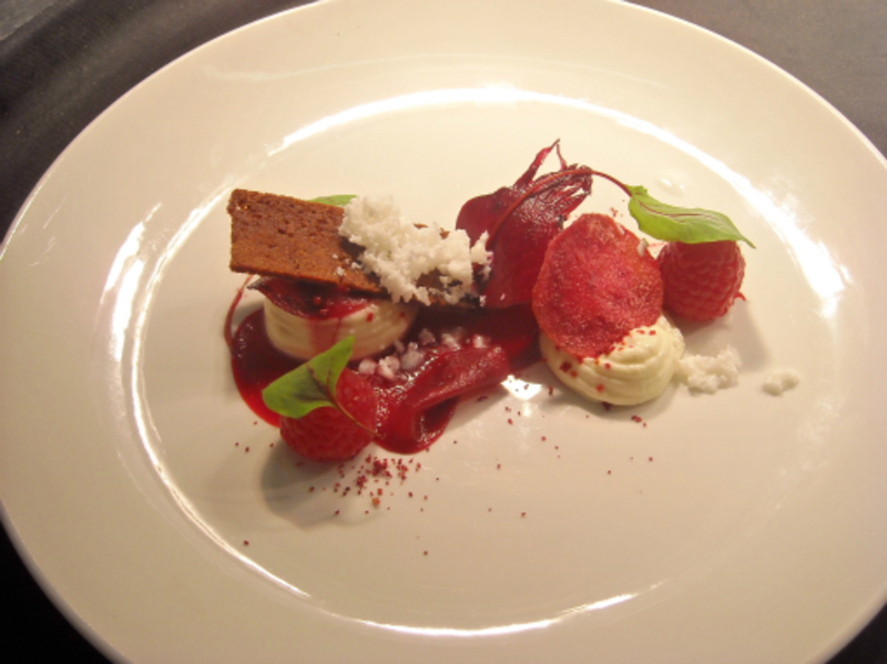 Goats Cheese Mousse Salad Of Beetroot And Raspberries Goats Cheese Snow