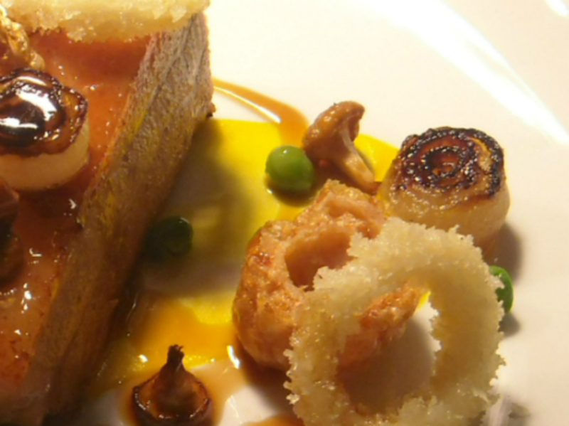 pork belly , pigs cheek , calamari , giroles ,