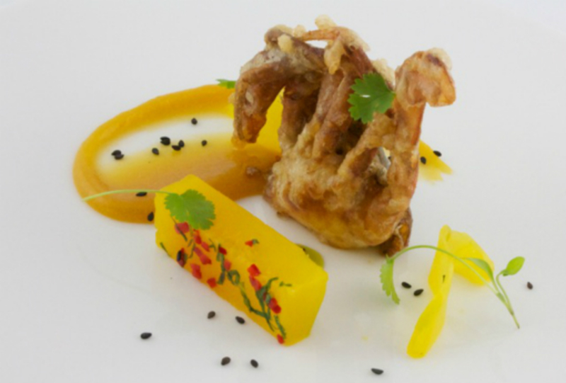 Fried Soft Shell Crab With Mango Lime And Chilli