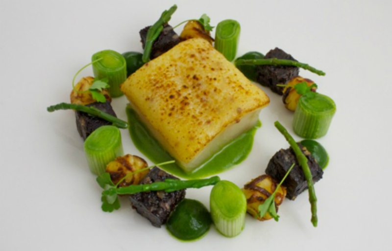 Smoked Haddock Rarebit With Vichysoisse And Black Pudding