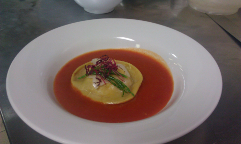 Crab And Ginger Ravioli