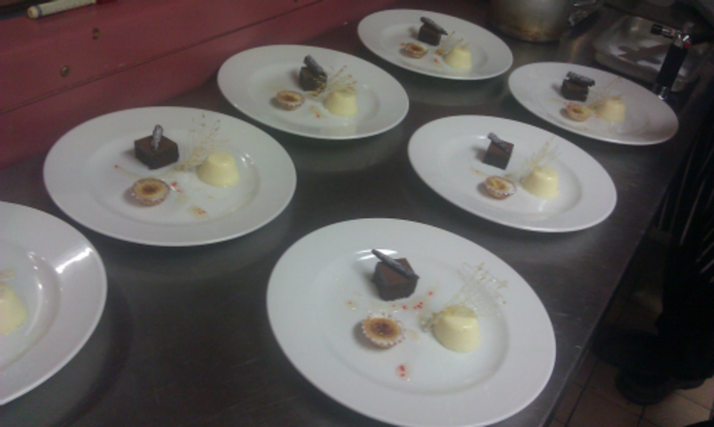 White Chocolate And Coconut Panacotta Dark Chocolate And Chilli Gateau Sharp Lemon Tart 2