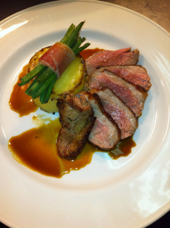 Roast Slaney Valley Rump Of Lamb With Fondant Potato Green Beans On The Early Bird All Weekend
