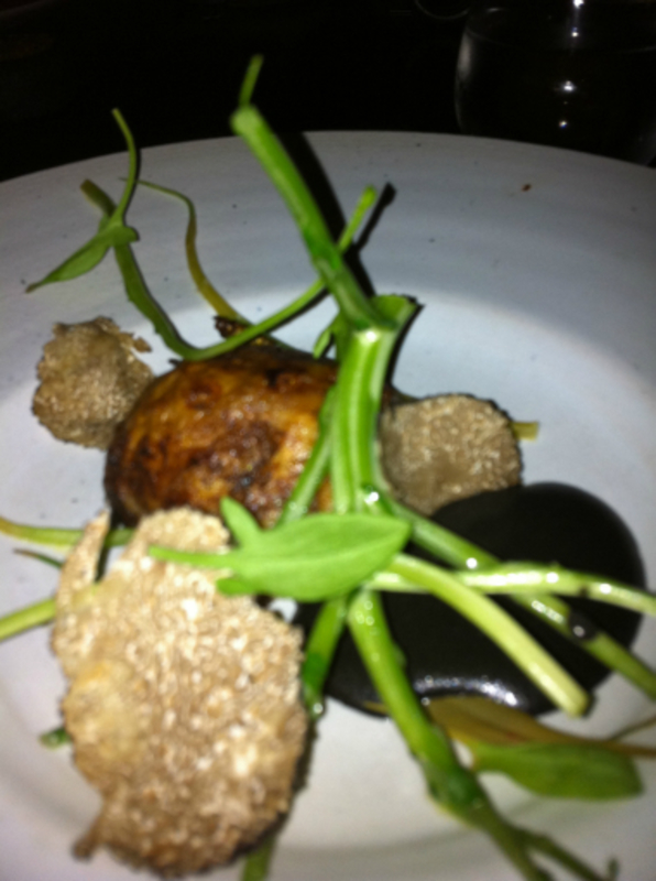 sweetbreads, watercress stalks, truffle