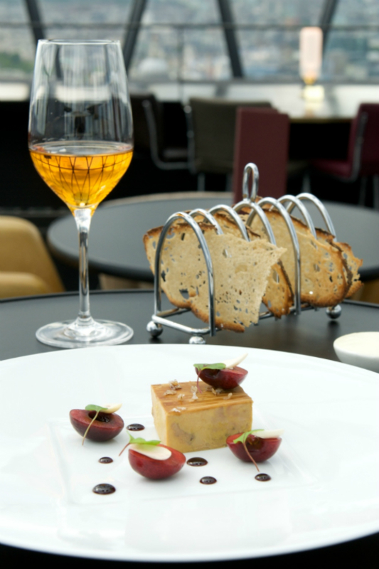 Foie Gras Terrine Marinated With Cabernet Caramel Fresh Cherries Pain Poil Ne