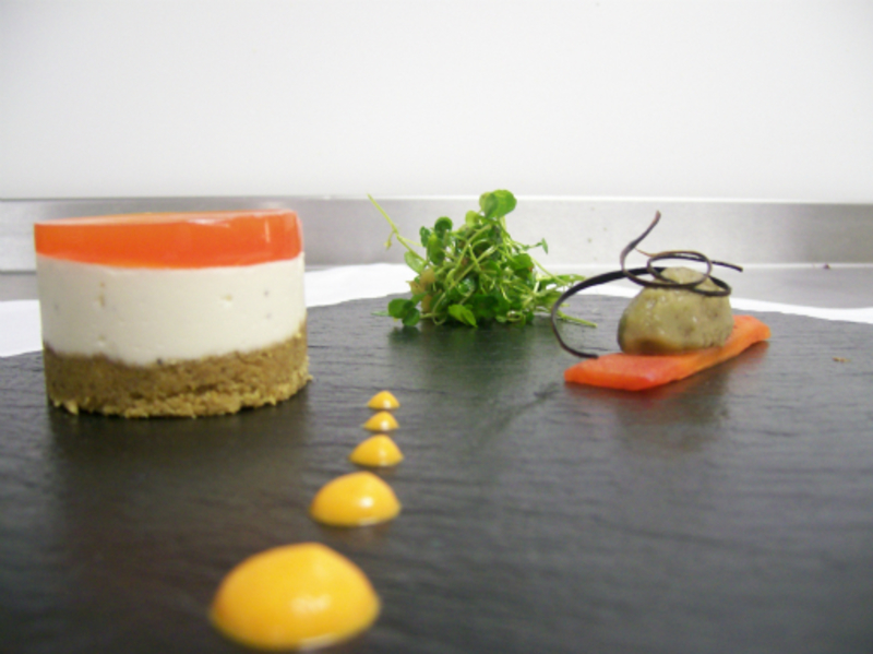 Goats Cheese Red Pepper Cheesecake