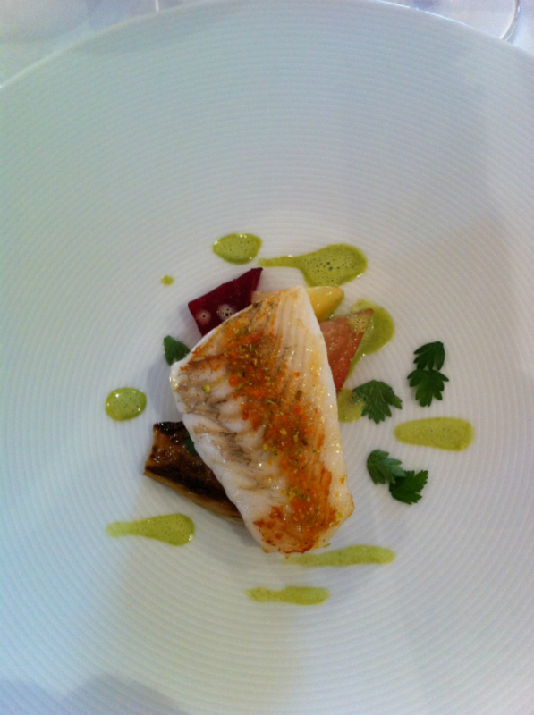 4th Course Turbot Beetroot Grilled Fennel 2