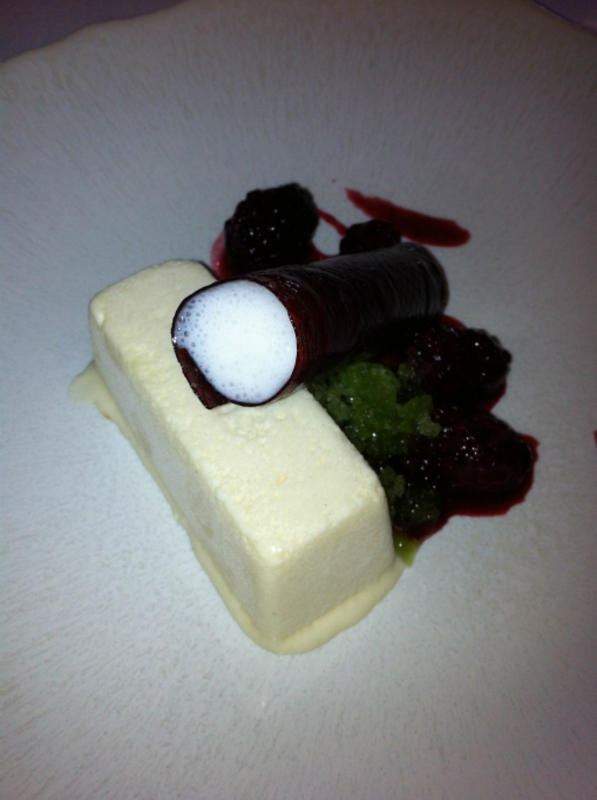 7th Course Parsnip Parfait Sorrel Ice Blackberries Natural Yogurt Foam 2