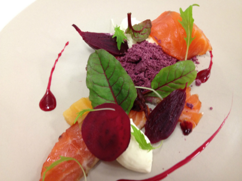 cured salmon & beetroot