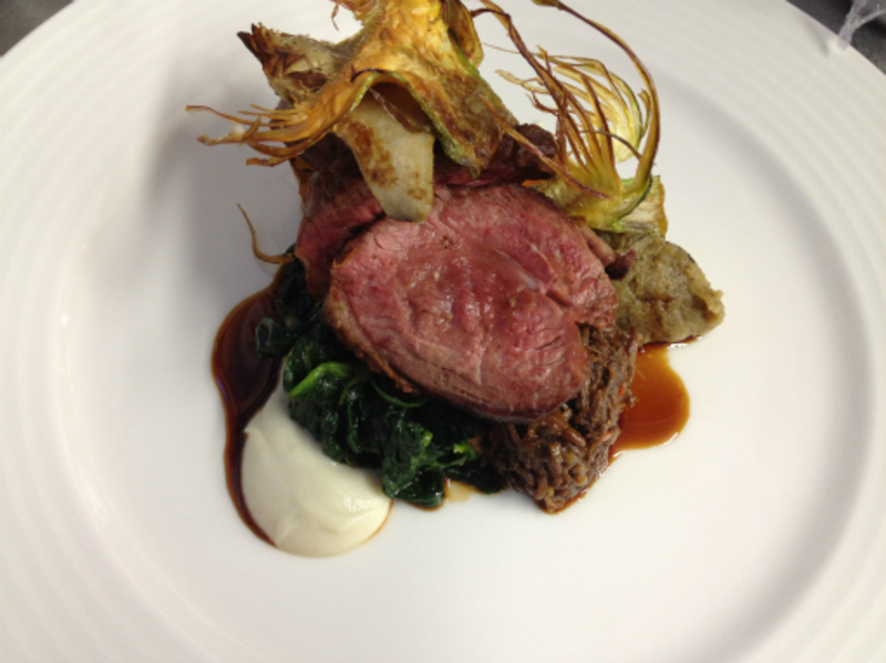 roast rump, braised shoulder of lamb, artichokes & olive
