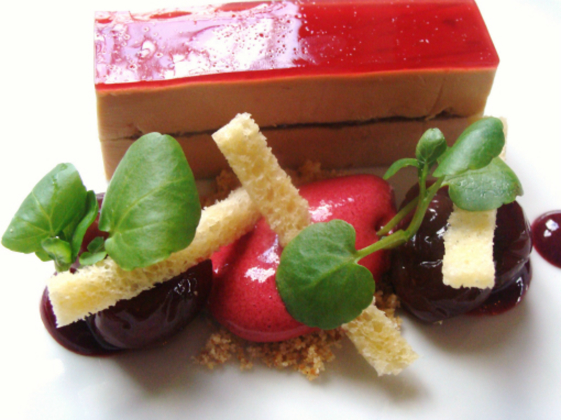 Foie Gras Cherries And Truffle1