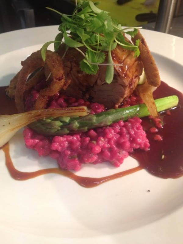 Heaves Farm Veal Shin Beetroot Pearled Spelt Risotto