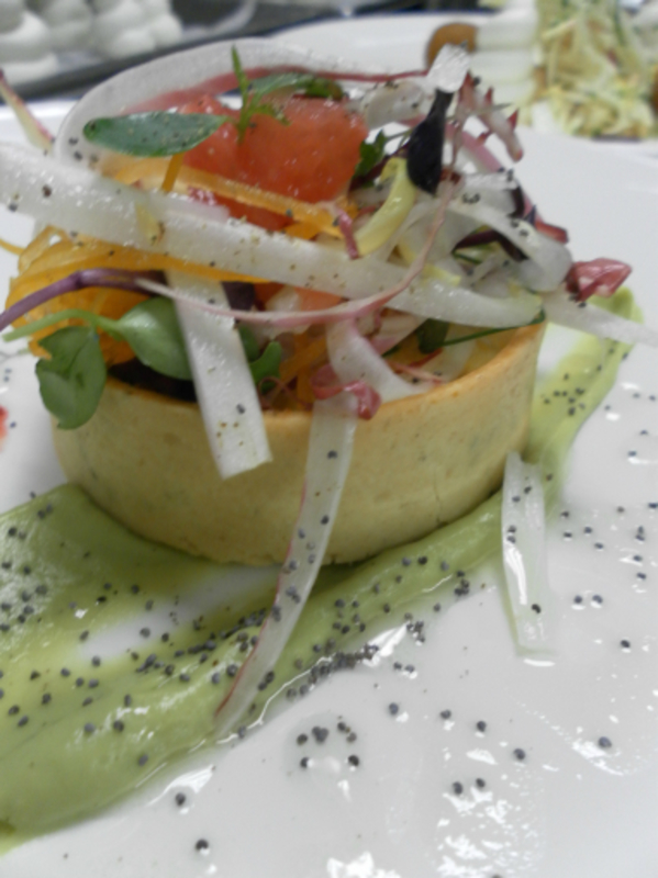 Baked Crab Tart Avocado Puree Pink Grapefruit 002
