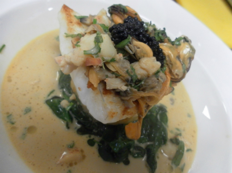 Baked Fillet Of Brill Lobster Shellfish Bisque 001