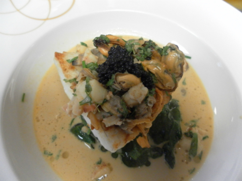 Baked Fillet Of Brill Lobster Shellfish Bisque 002