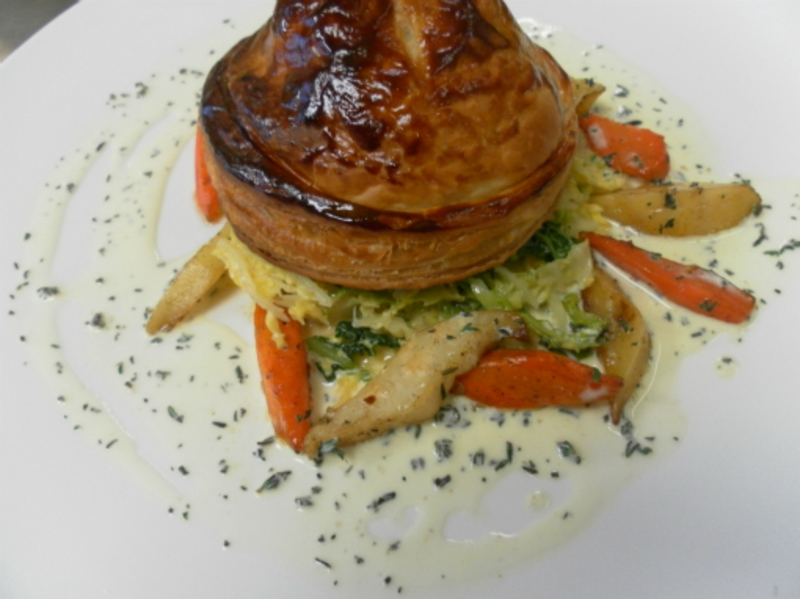 Pithiver Of Root Vegetables And Goats Cheese Thyme Cream 001