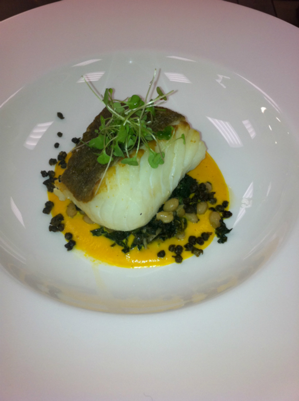 Cod With Carrot And Vanilla Veloute Haricot Vert And Spinach