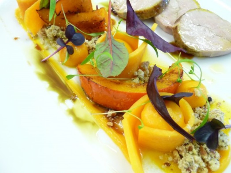 Smoked Pheasant Pickled Roasted Squash