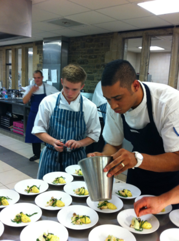 adam bateman plating his 'crab'