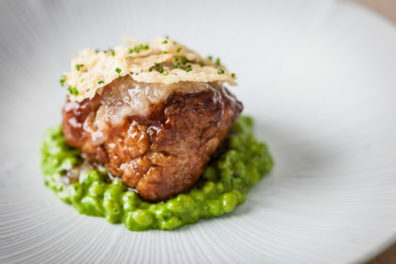 Veal sweetbreads pearl barley ~ parsley ~ lemon ~ parmesan by Paul Ainsworth