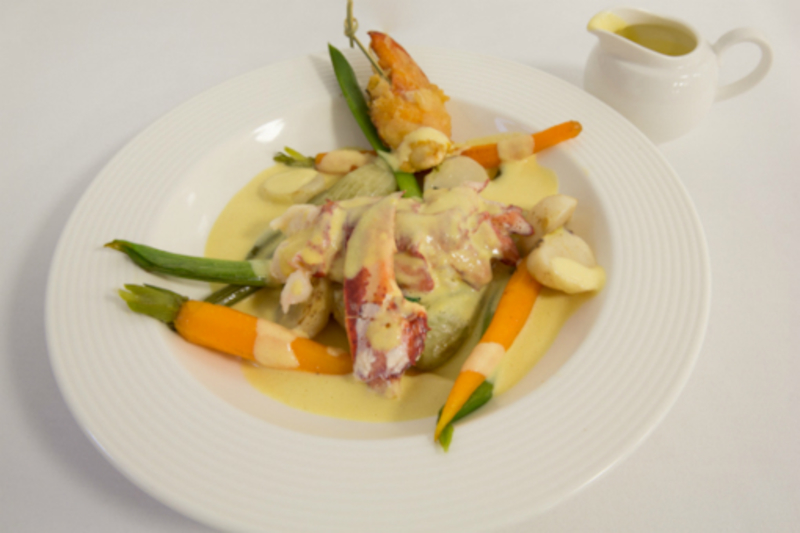 Butter Poached Muncaster lobster & Cheshire cheese sauce