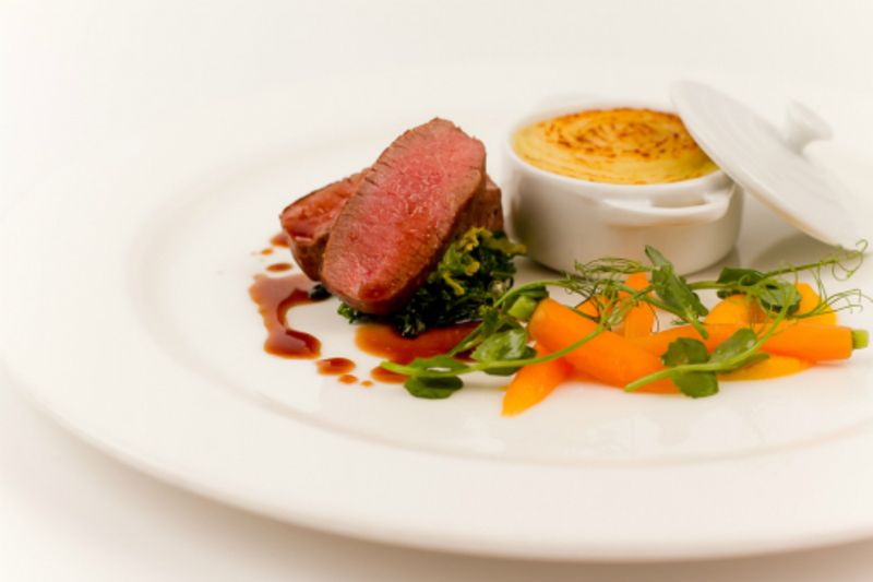 "Roast Loin Of Lamb, Shepherds Pie, ""Carrot And Peas"""