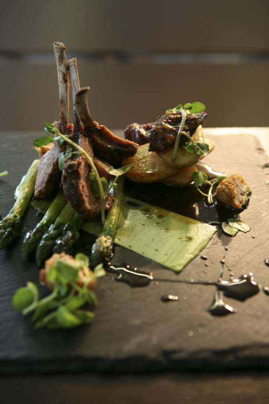 A Plate of Callum Edge's Black Faced Suffolk Lamb