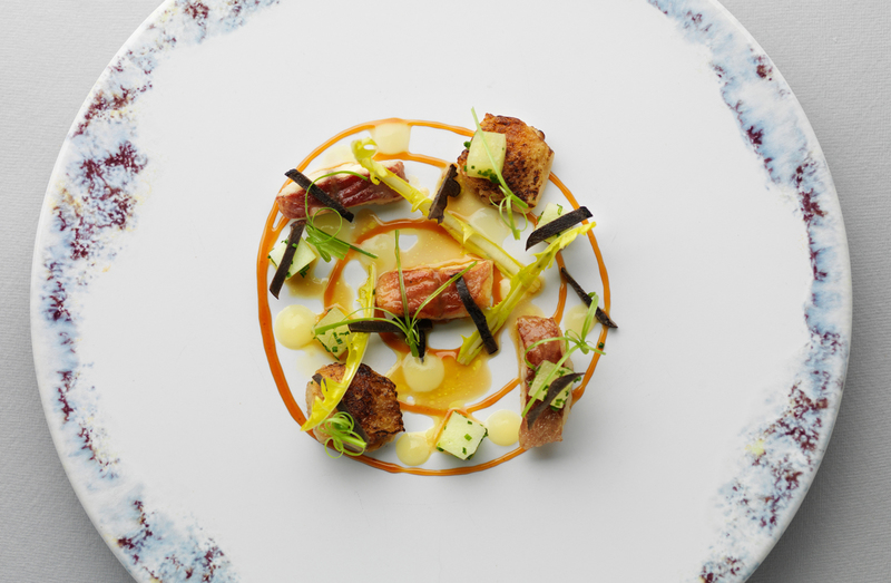 SALAD OF CHICKEN WINGS AND SMOKED EEL by Mark Poynton - 1