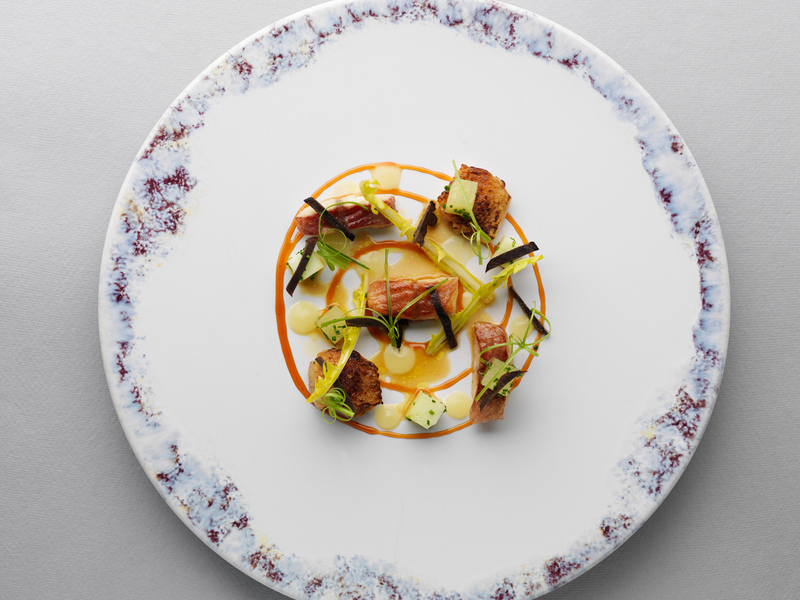 SALAD OF CHICKEN WINGS AND SMOKED EEL by Mark Poynton - 2