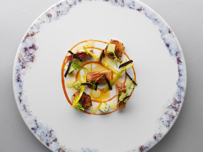SALAD OF CHICKEN WINGS AND SMOKED EEL by Mark Poynton - 4