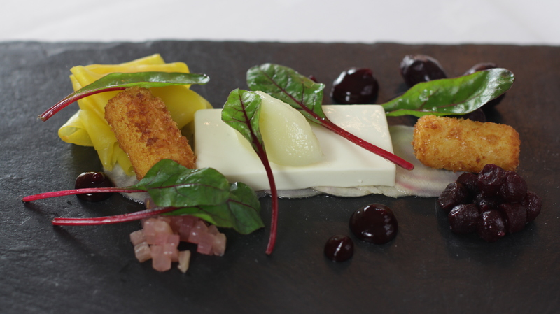 Goats cheese and beetroot by Nigel Mendham