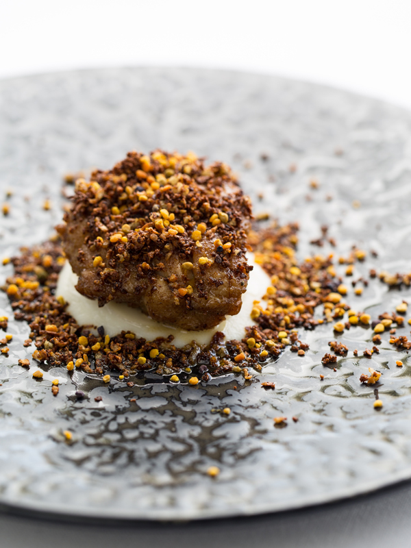 English Veal Sweetbread, Cauliflower, Wild Bee Pollen by Russell Bateman