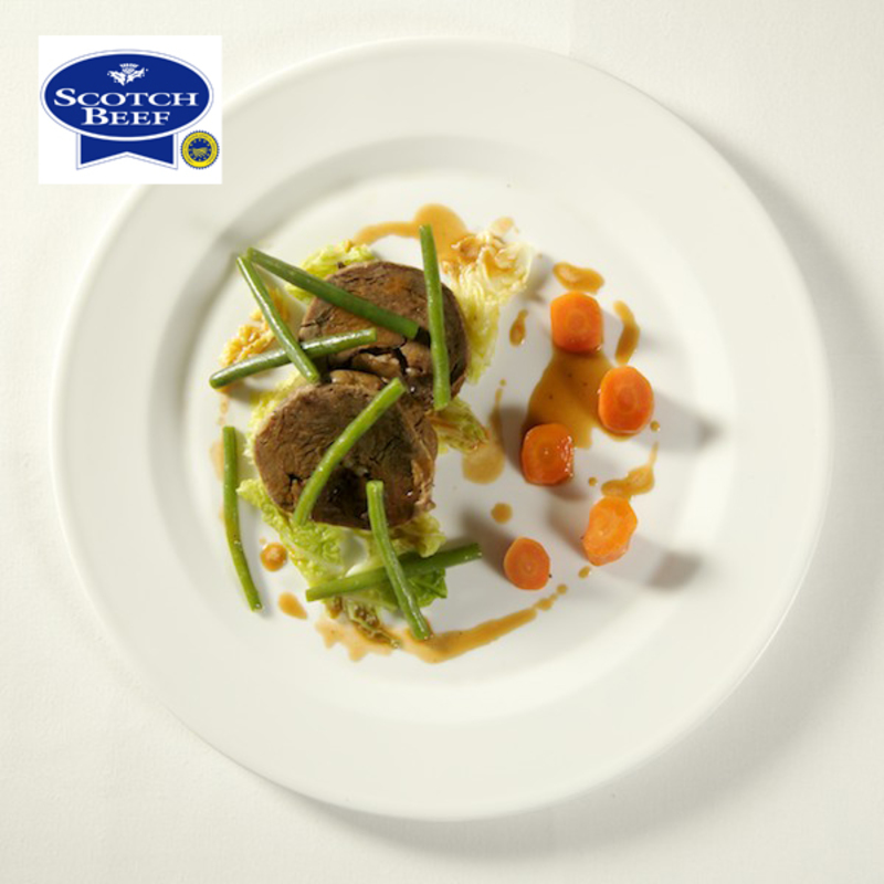 Poached Scotch Beef, Savoy Cabbage, Pickled Carrots by Brian Maule - 1