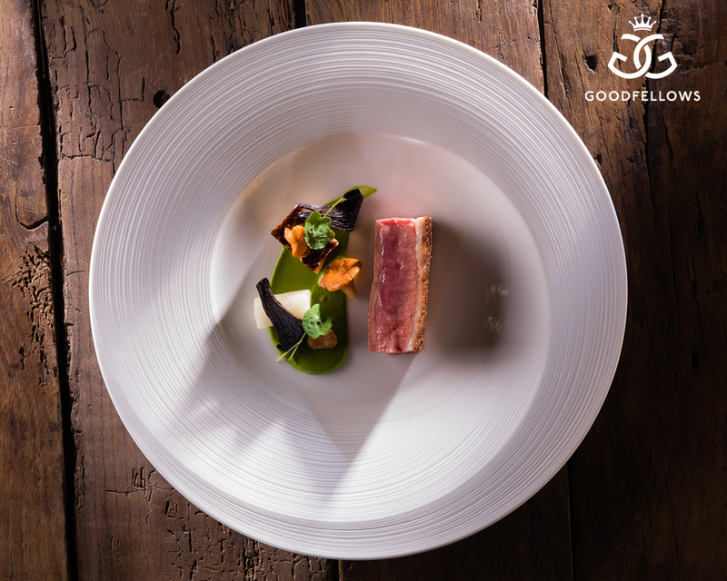 Honey Glazed Duck, salt baked turnip, cabbage puree and trompettes  by Adam Smith