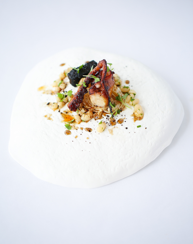 Octopus, miso & black pudding by Matt Gillan - 1
