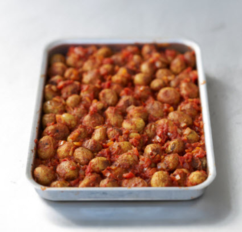 Roasted tomato potatoes