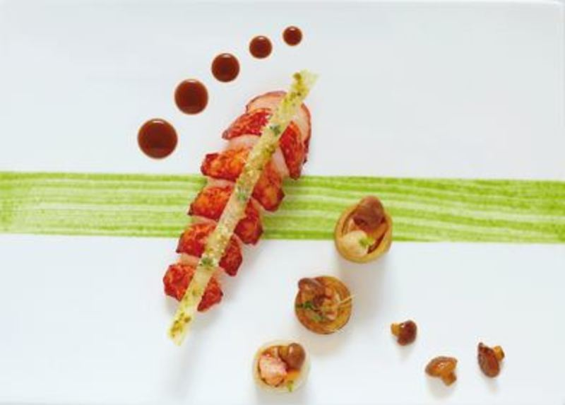 Lobster with Vintage Port, Stuffed Vegetables and Chanterelles