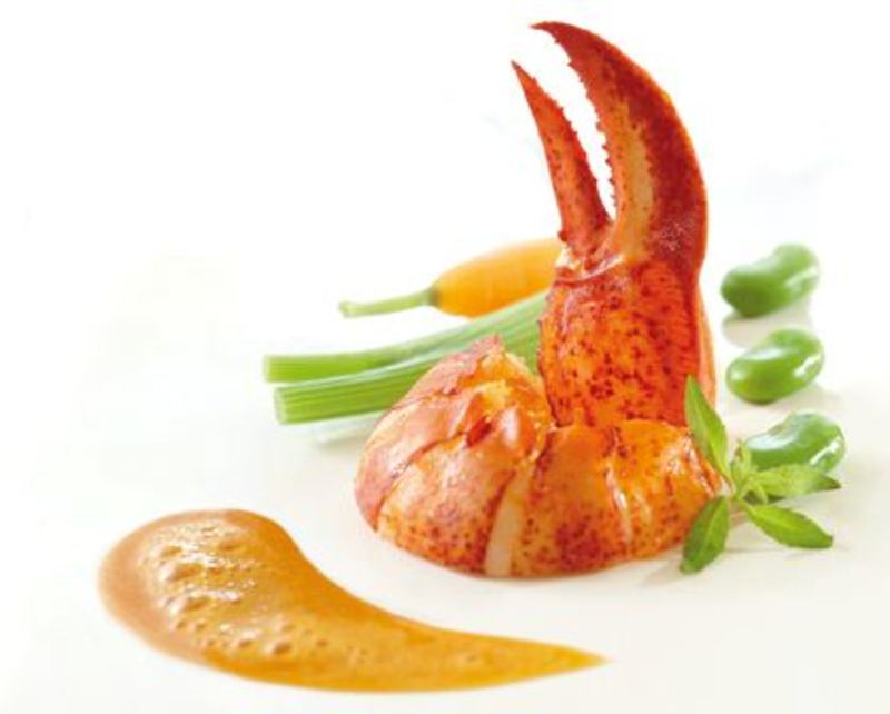 Roasted Lobster, Verbena Emulsion and Young Vegetables