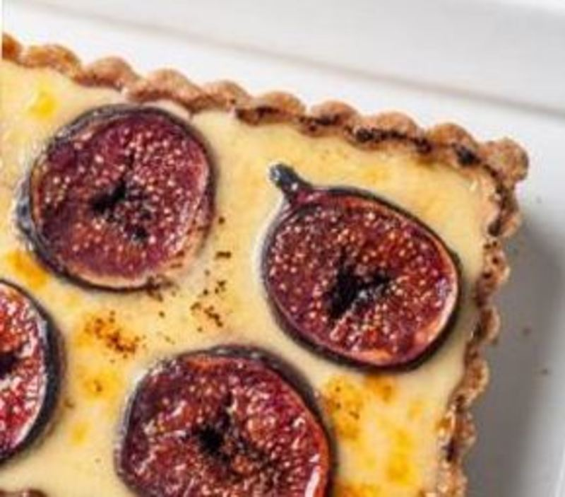 Brûléed Fig Tart