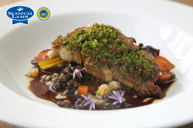 Braised shoulder of Scotch Lamb/mutton, parsley crust, confit carrot, black olive and caper - 3