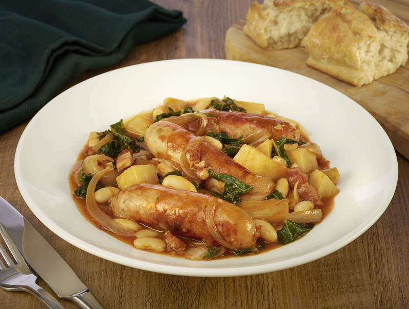 Celeriac and Kale Sausage Stew