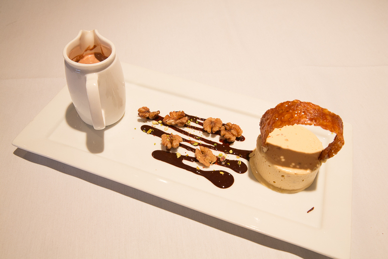 Peanut Butter Parfait, served with chocolate gnache