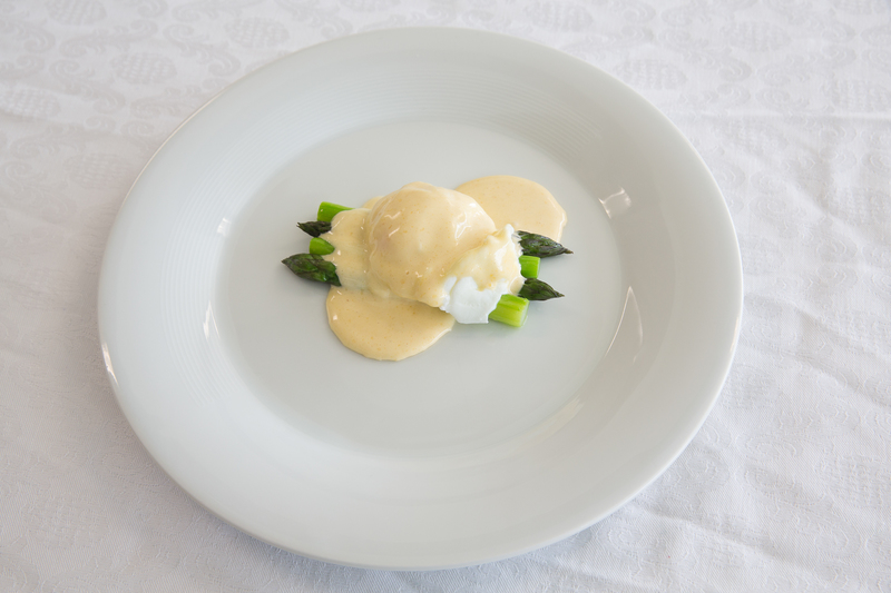 Hand Picked Claremont Asparagus, Poached Egg and Hollandaise Sauce