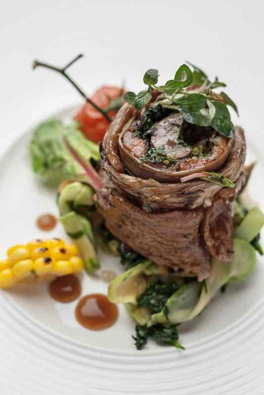 Lamb roll with vegetables
