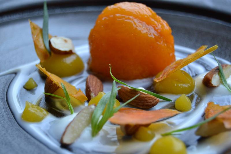 apricot and almonds