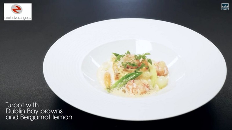 Turbot, Dublin Bay prawns and Bergamot Lemon from The Ritz