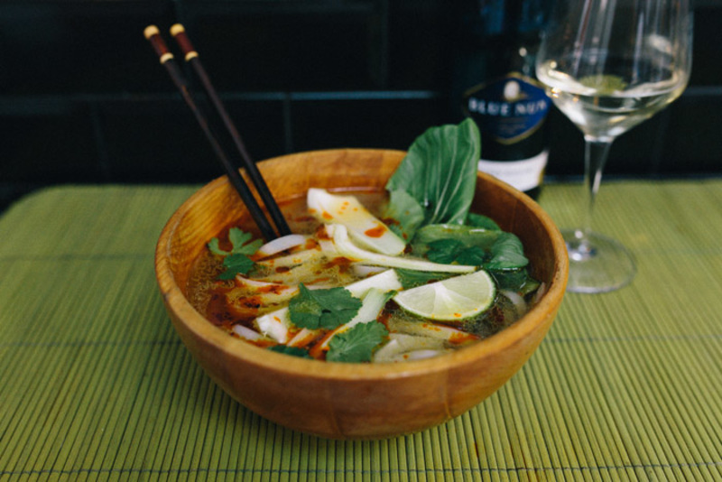 Vietnamese Pho Style Chicken Noodle Soup