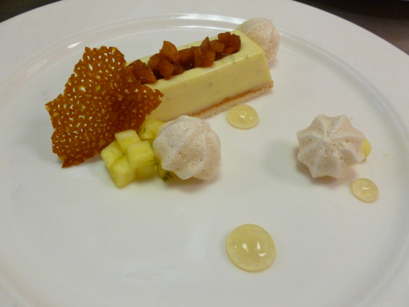 Caramelized pineapple and lime mousse by Laura Crouch, head pastry chef at Lord's - 1