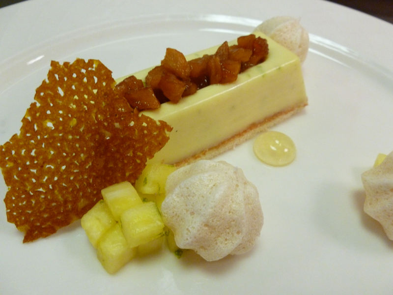 Caramelized pineapple and lime mousse by Laura Crouch, head pastry chef at Lord's